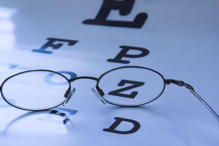 optometrist eye test chart blue Stock Photo - 408682
