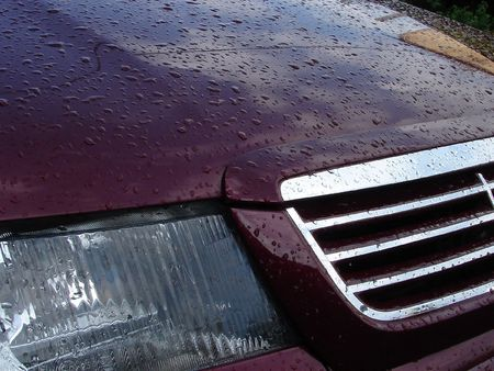 cowl: Rain Waterdrops upon Vehicle Cowl