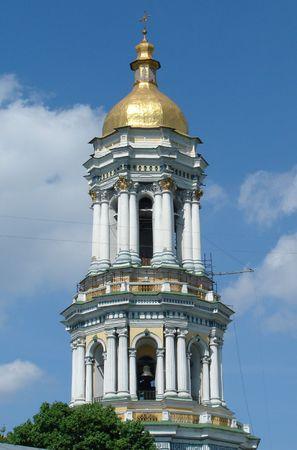 street creed: Bell tower of Sofiysky orthodox cathedral in Kiev, Ukraine