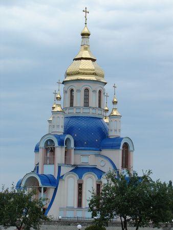 sumy: Modern Ukrainian Orthodox Church of St. Valentine Building in Sumy, Ukraine