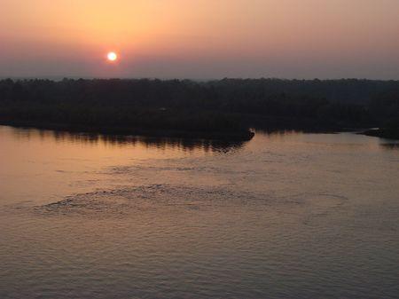 the dnieper: Sunset on River Dnieper in Kremenchug