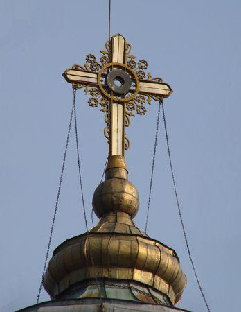 Orthodox Churchs Holy Cross upon cupola 008 photo