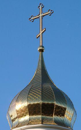 minster: Orthodox Churchs Holy Cross upon cupola 009