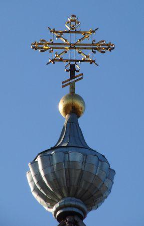 minster: Orthodox Churchs Holy Cross upon cupola 012