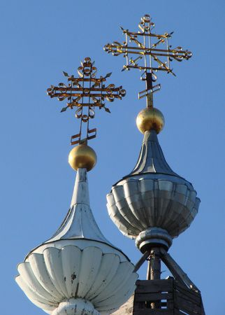 minster: Two Orthodox Churchs Holy Cross upon cupola