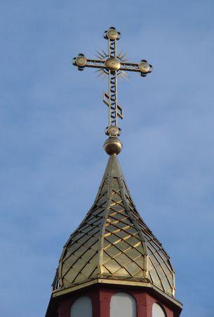 minster: Orthodox Churchs Holy Cross upon cupola 015