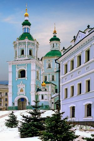sumy: St. Voskresensky Cathedral Church in Ukrainian city of Sumy