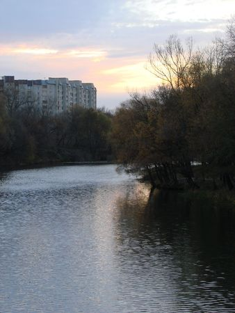 sumy: Sunset on River Psyol in Sumy