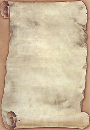 grime: Blank Ancient Scroll 03 Stock Photo