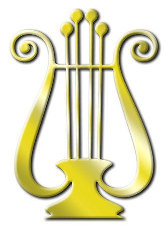 aloneness: Gold lyre