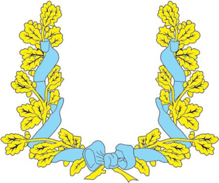 tsar: Heraldic Oak Leaves Frame Illustration