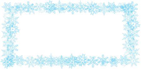 xmax: Snow flake border 02 Stock Photo