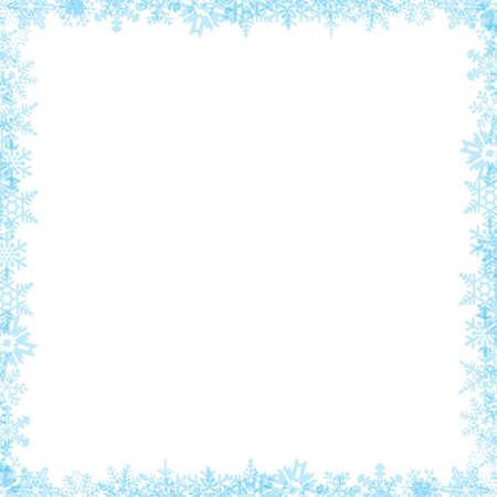 Snow flake border 04 photo