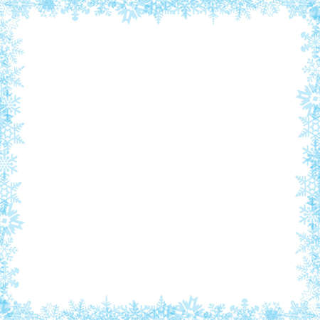 flakes: Snow flake border 04 Stock Photo