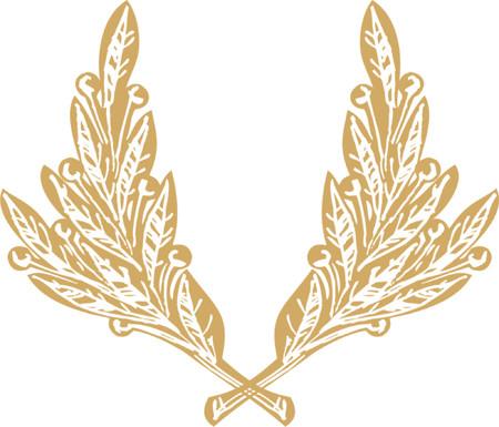 harbinger: Bronze Laurel garland Illustration