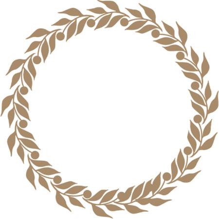 Bronze Laurel garland Illustration