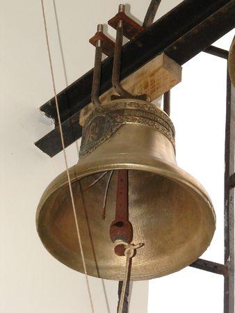 minster: Bronze Ukrainian orthodox church bell 02 Stock Photo