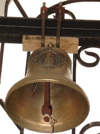 minster: Bronze Ukrainian orthodox church bell 04 Stock Photo