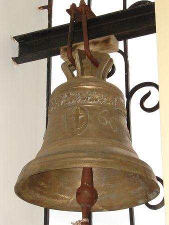 minster: Bronze Ukrainian orthodox church bell 06 Stock Photo
