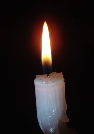 aloneness: Alone candle flame 04