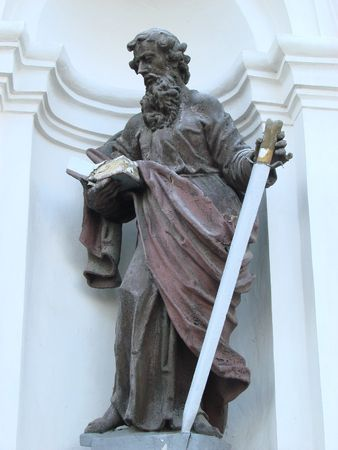 statue of ancient christian apostle 5 photo