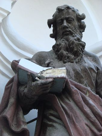 statue of ancient christian apostle 4 photo
