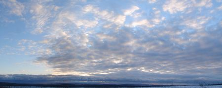 Cloudy sky panoramic view 2 Stock Photo - 709064