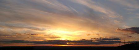 Dramatic sunset horizont 3