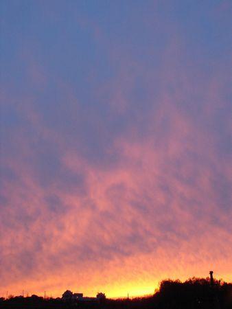 Dramatic sunset horizont 2 Stock Photo - 709024