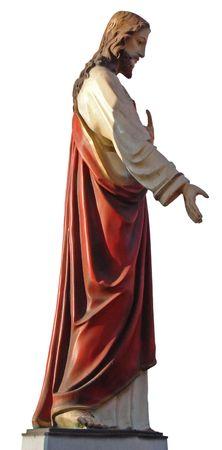 Decorated colorized Figure of Jesus Christ photo