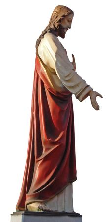 to implore: Decorated colorized Figure of Jesus Christ