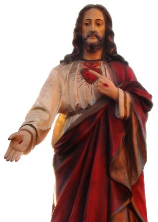 figurines: Decorated colorized Figure of Jesus Christ