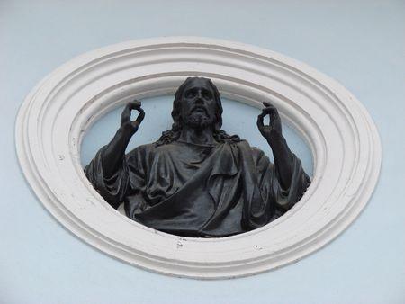 minster: Stony portray figure of Jesus Christ