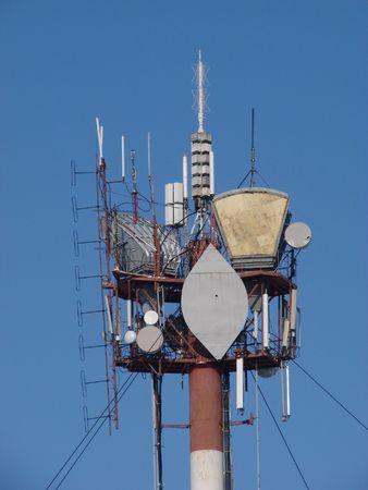 aloneness: The peak of communication Hi-Tek mast with lights and antennas