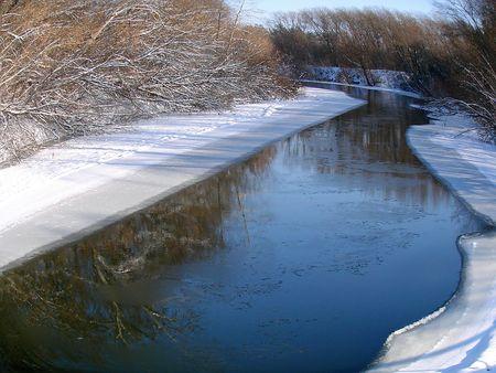 Winter snowy morning riverside Stock Photo - 751064
