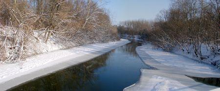 Winter snowy morning riverside Stock Photo - 751063