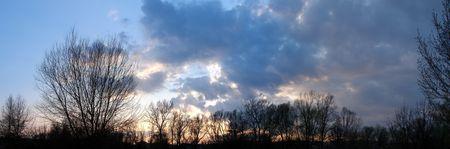 Cloudy sky wide angle panoramic view 7 photo