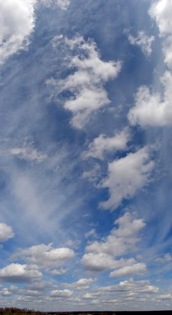 Cloudy sky wide angle panoramic view 5 Stock Photo - 882437