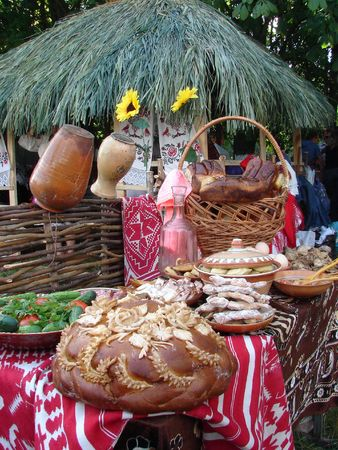 Traditional Ukrainian festive dinner meals 2 photo