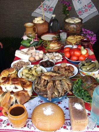 Traditional Ukrainian festive dinner meals 3