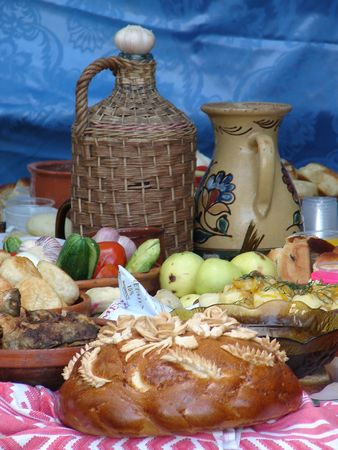 Traditional Ukrainian festive dinner meals 5 photo