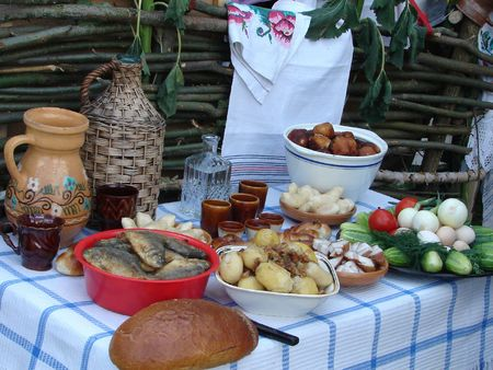 Traditional Ukrainian festive dinner meals 9 photo