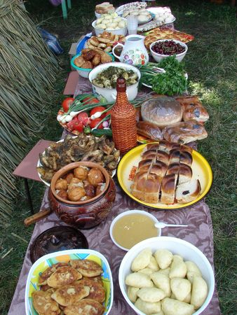 Traditional Ukrainian festive dinner meals 8 photo