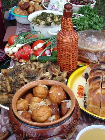 Traditional Ukrainian festive dinner meals 11 photo