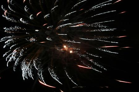 nightspot: Night celebration fireworks upon dark sky