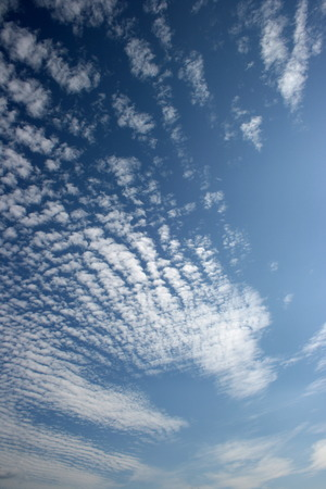 Panorama of blue white cloudy sky wide angle view Stock Photo - 1694118