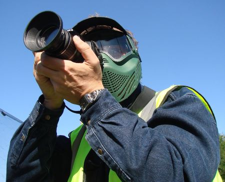 shootings: The outdoor photographer with motocross mask 1