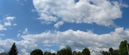Panoramic HDR image of cloudy sky wide angle view Stock Photo - 1833526