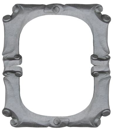 Isolated empty silver handmade frame Stock Photo - 2252649