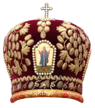 solemn: red mitre - solemn headgear of the orthodox bishop